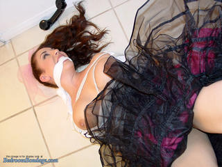 Sock-Hop Spy gets Bound and Gagged!