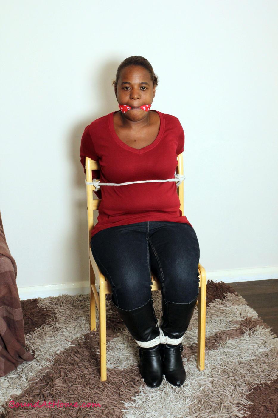 Ebony women bound and gagged