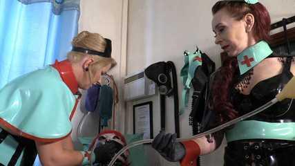 Mistresses Erika and Julia's Nasty Clinic  (full) HD wmv