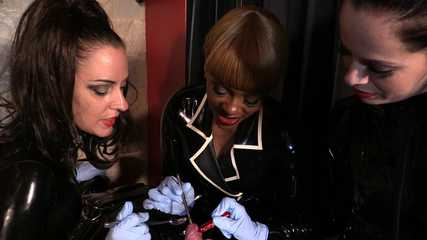 Lady Bellatrix, Mistress Tiffany, Mistress Ava - Big Sound Pee Hole (Full) HD wmv