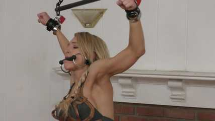 May the Farce Restrain You! Alix Lynx waits in Cuffs and Chains
