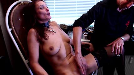 Pussy-Torture on gyn-chair