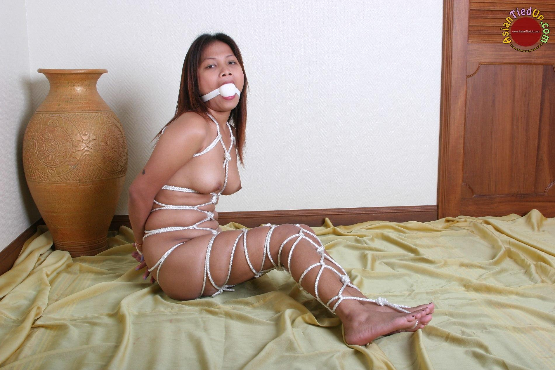 Girl sexy bondage gagged and brutal face
