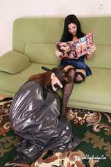 Marvita & Miras - Pet Miras ball cuffed in trashbag by Marvita