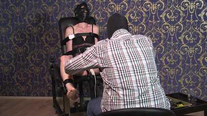 Tickle torture for slave Karo Part 2