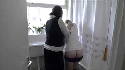 Soaping and spanking