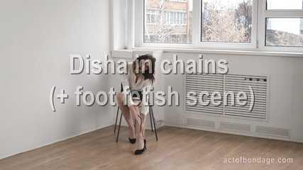 Elegant Disha chained on the floor