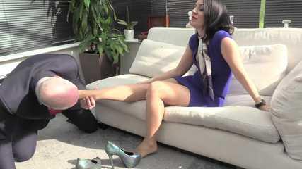 Lady Bellatrix  Subby Hubby - Foot Gagged (HD mp4)