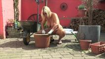 planting flowers nude 9