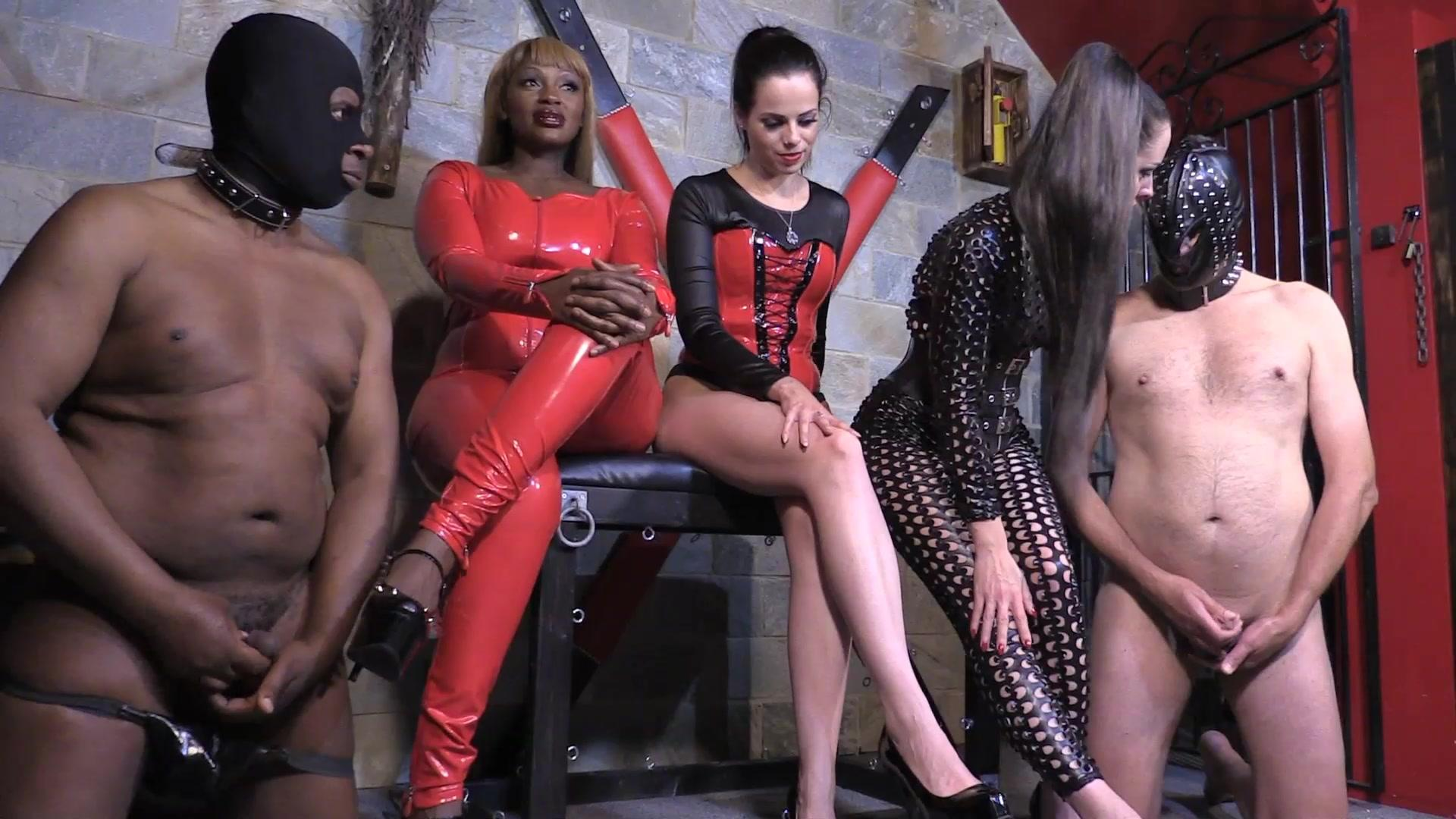 Lady Bellatrix, Mistress Tiffany, Mistress Ava - Cum Contest (HD mp4) 0