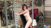 Amateur Redhead Milf Misty Working Out In Gym - Video 8