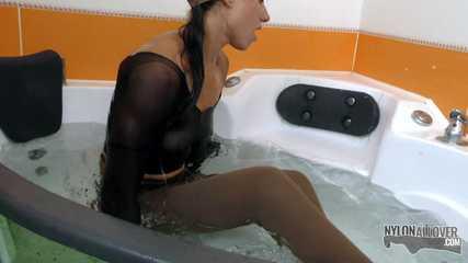 Wet pantyhose encasement (video update)