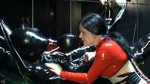 Lady Isis - Rubber Mumification Part1 3