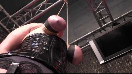 Hard Breast Punishment in Public for Kitty the Cat