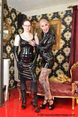 +++new+++ Miss Francine bound Lady Nadja in sexy PVC outfits