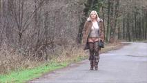 Nude walk in the woods 7