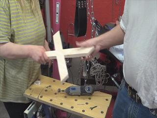 Construction manual small St. Andrew's Cross - candles and Equipment holder for wall