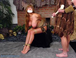 Captive Costumed Cavegirl