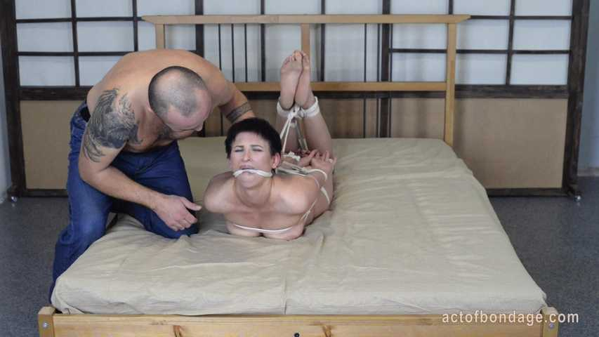Soles Writing Torture For A Hogtied Girl