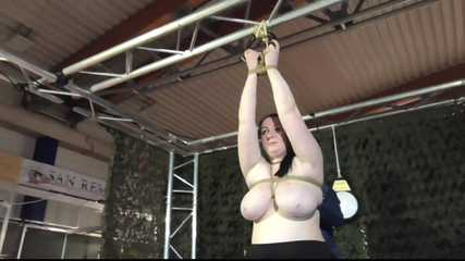 Tit Slave Cat in tight Bondage