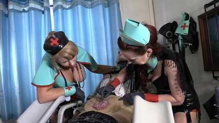 Mistresses Erika and Julia's Nasty Clinic - Signed Off (HD wmv)