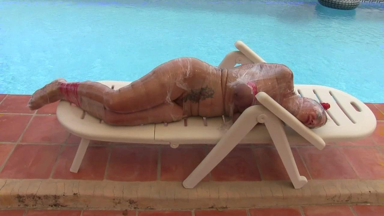 This tight mummification bondage made
