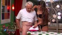 Holly's Cum On Ironing Board Handjob 7