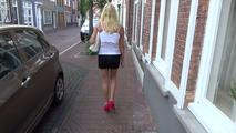 High heels and pantyhose outdoor, take a look to the people follow me holala... 8