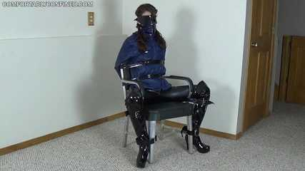 bound boot girl cuming