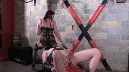 Mistress Tiffany - Bondage Machine Ass Fucking (HD MP4)