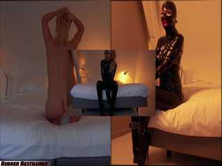 DressTease - a reverse rubber striptease - video, part 3/3