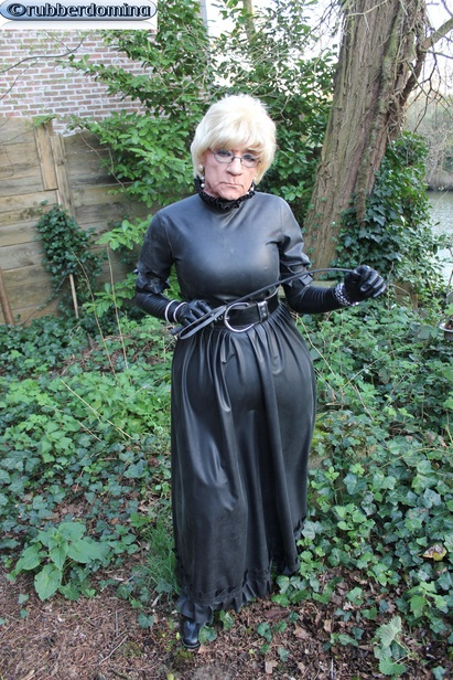 Big long rubber dress