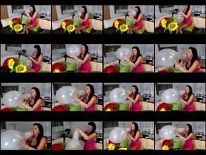 Hol 319 kathy  sexy busty blow2pop transparent belbal 14inch medium